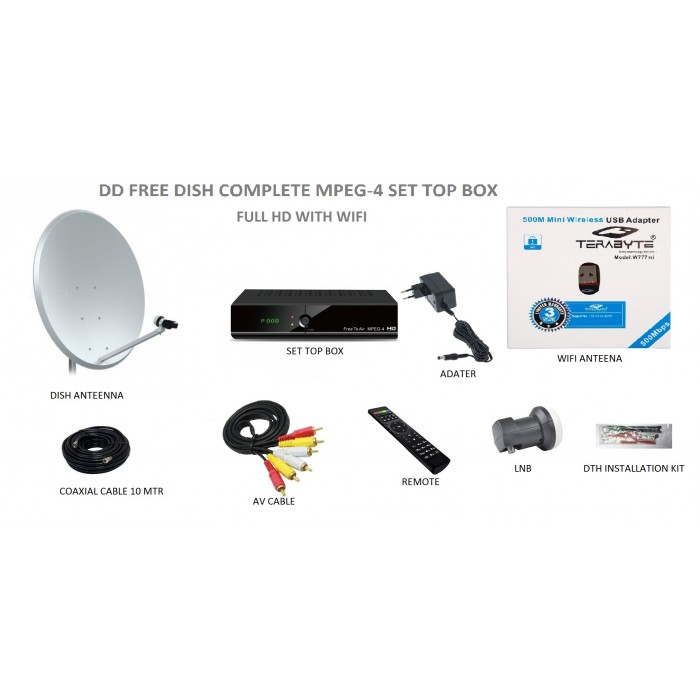 Buy CASH ON DELHIVERY DD Free Dish / Free to Air DTH System